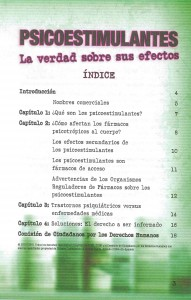 Indice del librito LA VERDAD SOBRE LOS PSICOESTIMULANTES_CCDH.ES