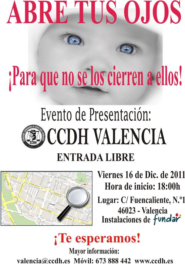 Evento de presentacion de CCDH Valencia - ver mapa